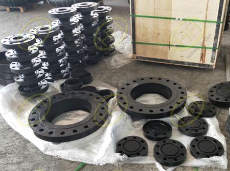 Carbon steel weld neck flange,blind flange,figure 8 blind flange in Haihao Group