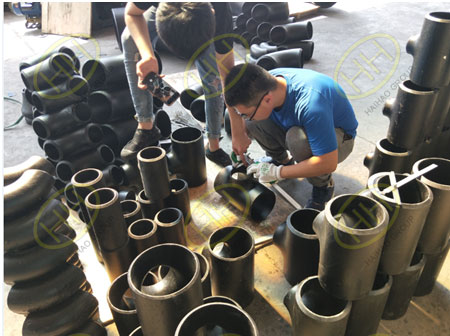 BV test butt weld pipe fittings in Haihao Group