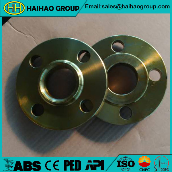 JIS B2220 SS400 5K Yellow paint Slip On Flange