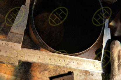 BV test butt weld tee outside diameter in Haihao Group