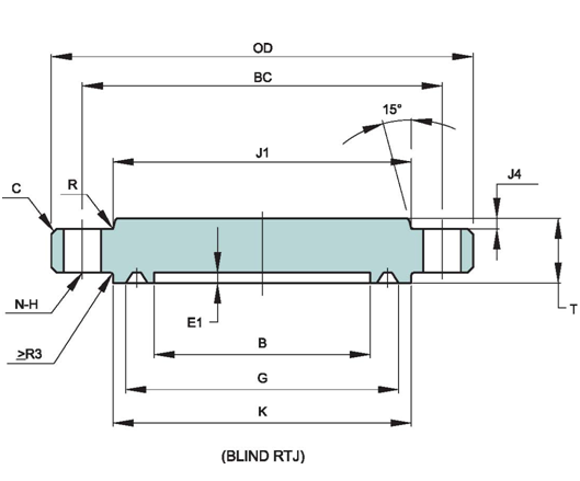 API-6A-STANDARD-FLANGE-DIMENSIONS-TYPE-6BX-13.8-MPA-2000PSI