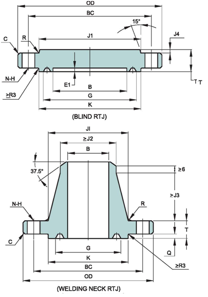 API-6A-STANDARD-FLANGE-DIMENSIONS-TYPE-6BX-138.0-MPA-20000PSI