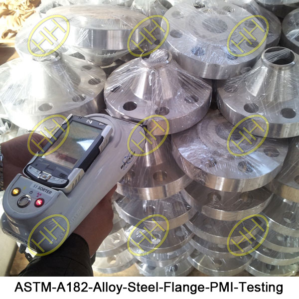 ASTM A182 Alloy Steel Flange PMI Testing