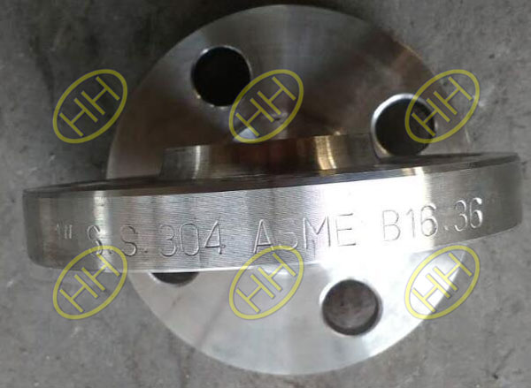 ASTM A182 F304 Welding Neck Raised Face Orifice Flange Finished In Haihao Flange Factory