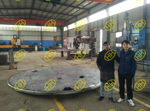 Client Inspect Tube Sheets Quality and Production In Haihao Group