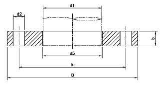 DIN-2503-PN40-Flat-Flange-for-Welding-Plate-Slip-On