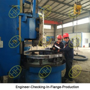 Engineer-Checking-In-Flange-Production