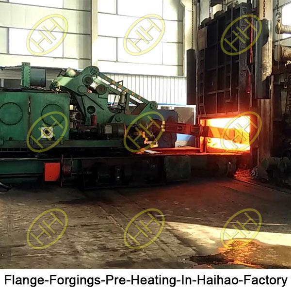 Preheating treatment of flange