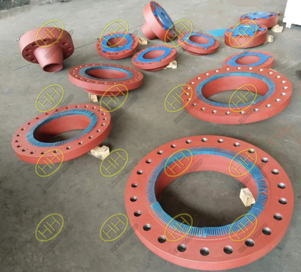 Flange products painting with red oxide primer