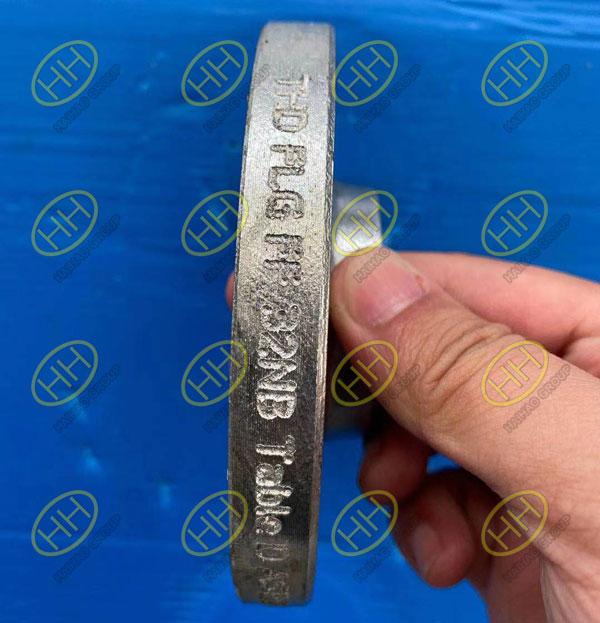 Galvanized threaded flange ASTM A105N FF