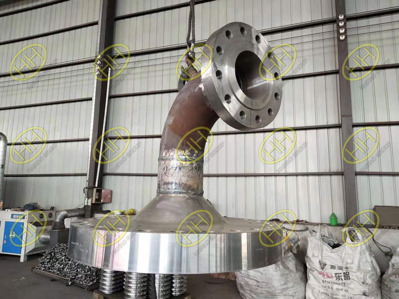 HaiHao Group finished the bend welded flange with lifting lug