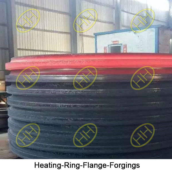 Heat treatment of large flanges