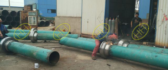 Hebei Haihao Group anchor flanges installed in site