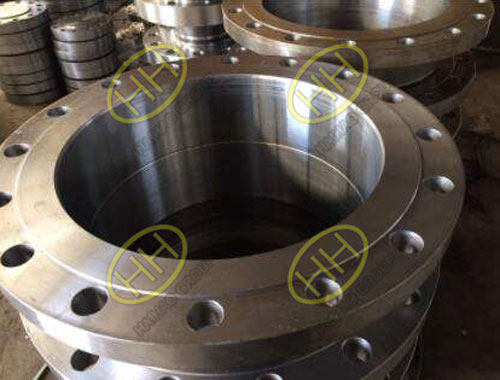 Hot dip galvanizing process of flange