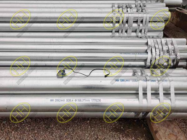 Hot dip galvanizing steel pipes