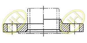 JIS B2220 Lap Joint Flange Drawing