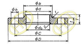 JIS B2220 Lap Joint Flange With Neck Drawing