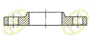 JIS B2220 Slip On Hubbed Flange Drawing