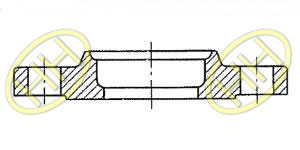 JIS B2220 Slip On Hubbed Flange Type C Drawing