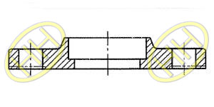 JIS B2220 Socket Weld Flange Drawing