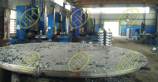 Large size tube sheets inspection in Haihao Group