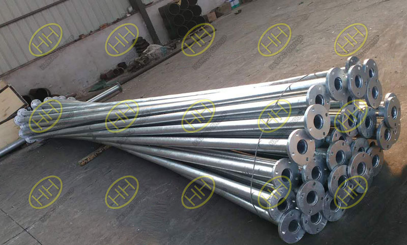 Pipes with flanges coating with interseal 670HS surface tolerant epoxy