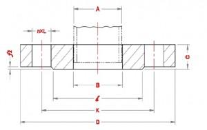 Plate-Slip-On-Flanges-Dimensions-according-to-Standard-EN-1092-1-PN40