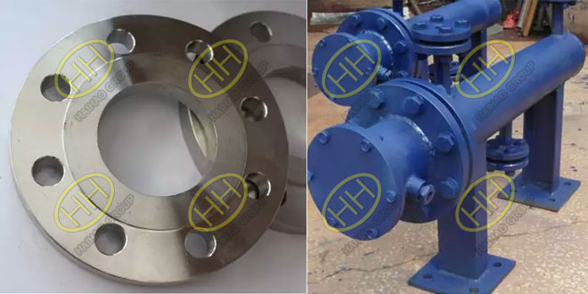 Plate flange applicable occasions according to European system