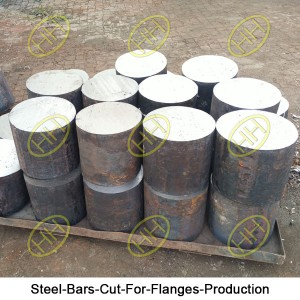Steel-Bars-Cut-For-Flanges-Production