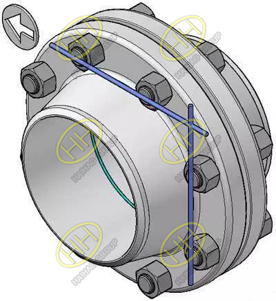The correct vertical flange positioning