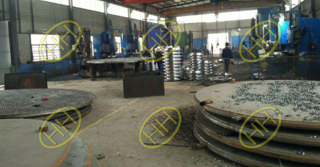 Tube sheets are under production in Hebei Haihao Flange Factory