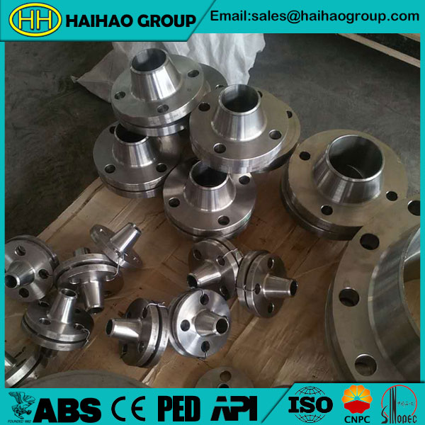 ASTM A105 steel weld neck flange ANSI B16.5 in Haihao Group