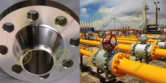 Weld neck flange applicable occasions according to European system