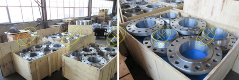Weld neck flange packing
