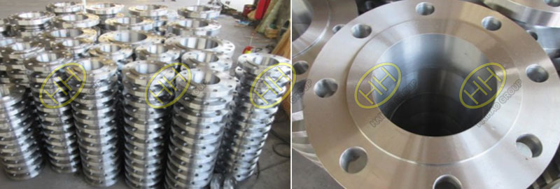 Weld neck flanges with well surface treatment