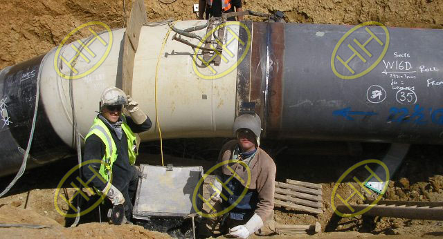 Hot Induction Bend Butt Welded To Pipeline Underground