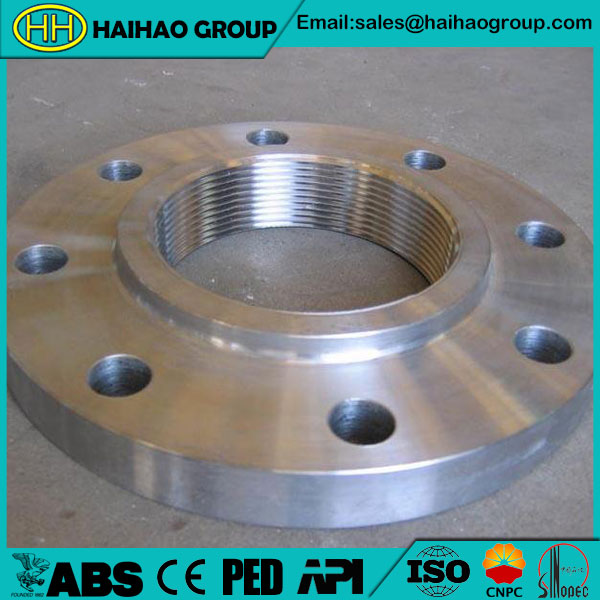EN1092-1 PN25 ASTM A182 F304 RF Threaded Flange