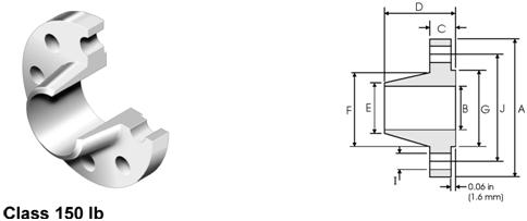 weld-neck-flange-ansi-asme-b16-5-standard-demisions