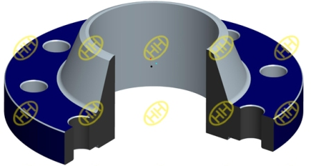 weld neck flange drawing design