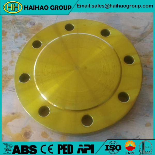 Yellow Paint BL RF ANSI B16.5 150# A105 Blind Flange