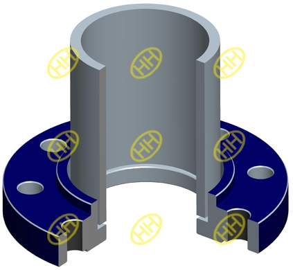 socket weld flange pipe connection design